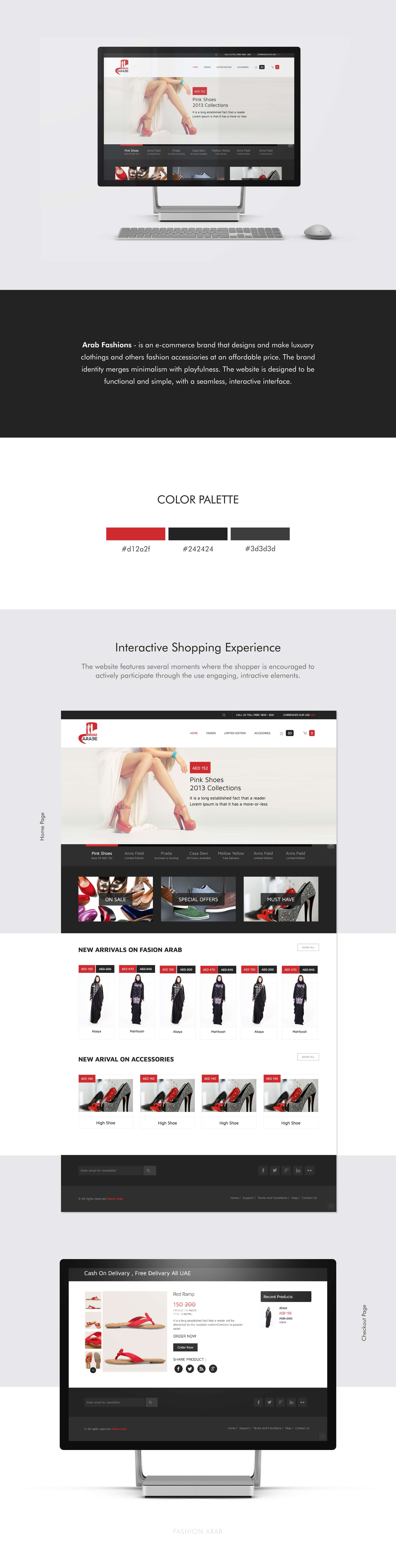 Arab Fasion E-commerce Website by SAJID SULAIMAN