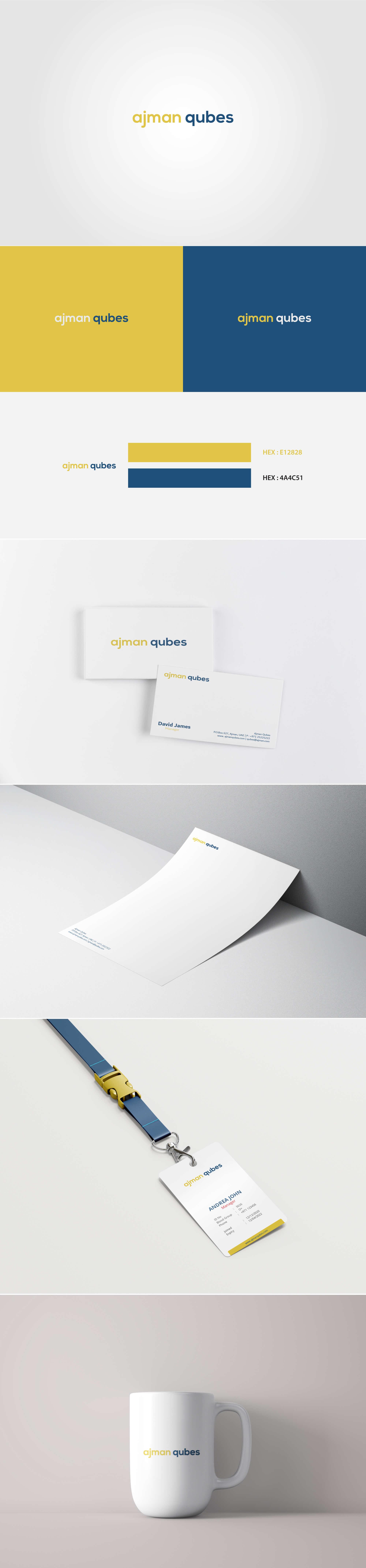 Ajman Qubes Logo by SAJID SULAIMAN