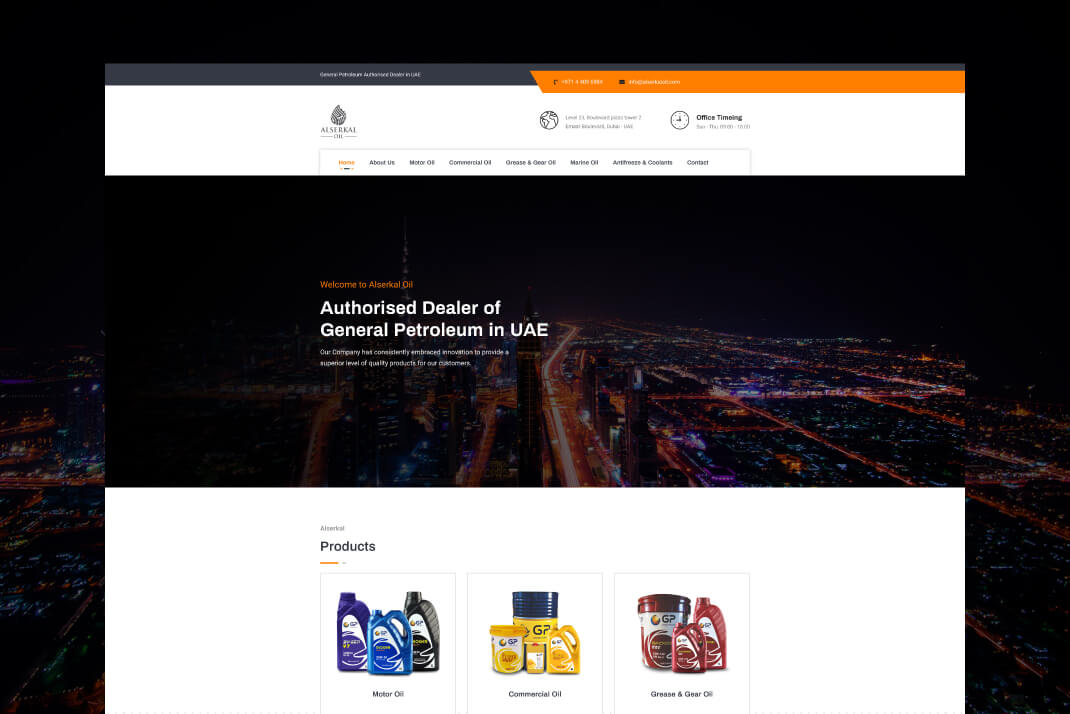 alserkal oil Website by Freelancer web designer dubai Sajid Sulaiman