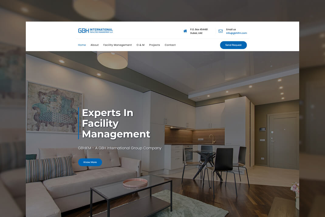 GBH International Facilities Management website by freelance web designer Sajid Sulaiman