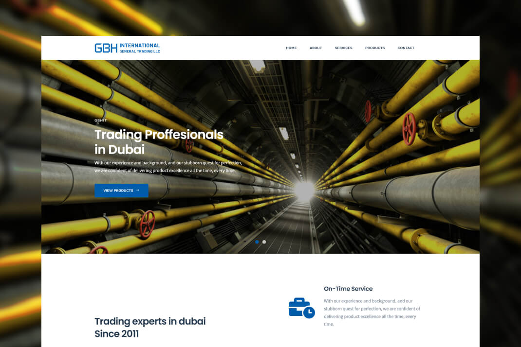 GBH International Trading website by freelance web designer Sajid Sulaiman