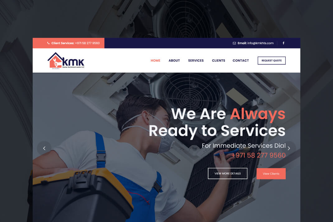 kmkhts Website by Freelance Website Designer