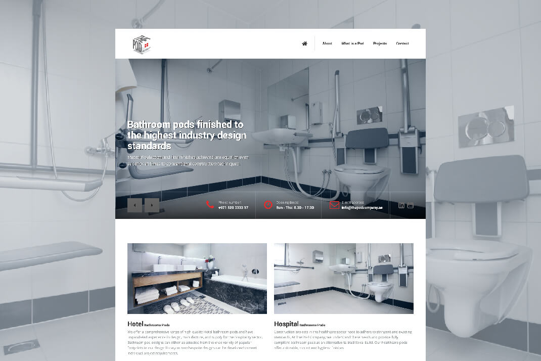The Pod Company website by freelance Web designer Sajid Sulaiman